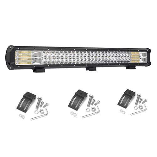 lumi/ère blanche 42 W LED 12 V 24 V pour voiture 4x4 camion pelle m/écanique Brightum Projecteur pour travaux hors route tracteur v/éhicule utilitaire