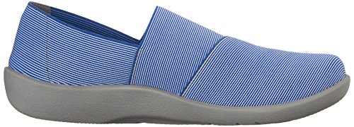 Clarks Cloudsteppers Sillian Firn Flat Blue Synthetic