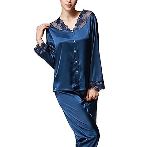 Pyjamas Femme Satin - Femme Ensemble Pyjama satin Chemises de Nuit
