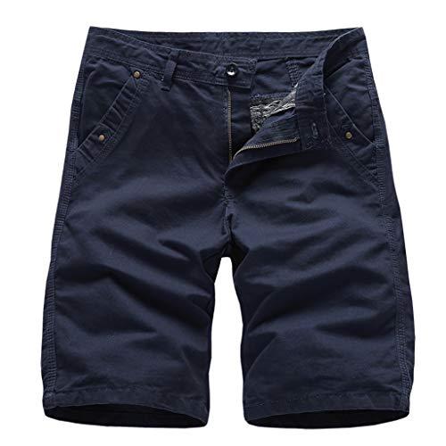 Setsail Herren Pocket Short Pants Lässige einfarbige gerade Slim Fit Hosen Kühl und atmungsaktiv Jeans - Denim-zwei-pocket-shorts