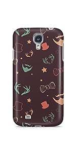 Casenation Beard Pattern for Samsung Galaxy S4 Matte Case