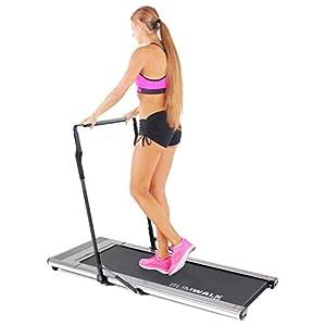 Miweba Sports elektrisches Laufband SlimWalk S200 – Intelligente Startautomatik – Ultraflache 9 cm – Große Lauffläche – Ultraleicht – Flach