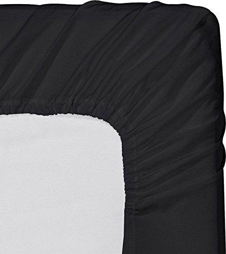 Queen Size Spannbetttuch {unten Tabelle} nur-650Fadenzahl 100% ägyptische Baumwolle-Stück verkauft separat für Set (weiß)-Durch uhcbeddings, baumwolle, schwarz, Quee