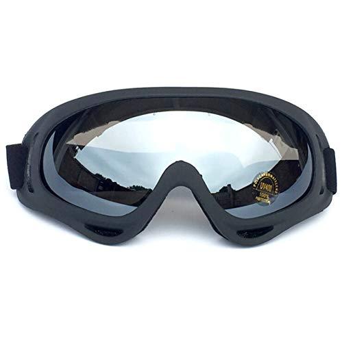 Aienid Sportbrille Clear Schwarz Gray Skibrille Winddichter Augenschutz Size:18X8CM