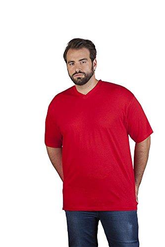 Premium V-Ausschnitt T-Shirt Plus Size Herren, 5XL, Rot - 5xl 5x T-shirt