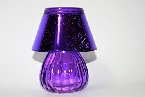 DECORATION LAMP GLASS CANDLE HOLDER(PURPLE PACK OF 1)