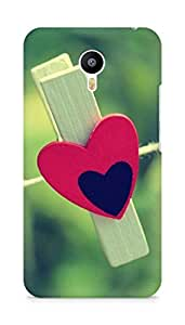 Amez designer printed 3d premium high quality back case cover for Meizu M2 Note (Love Clothespin)