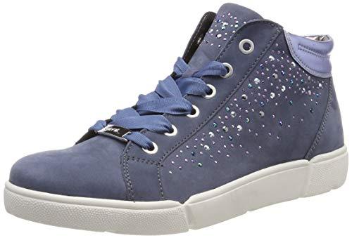 ARA Damen ROM 1214414 Hohe Sneaker, Blau (Jeans, Sky 05), 36.5 EU