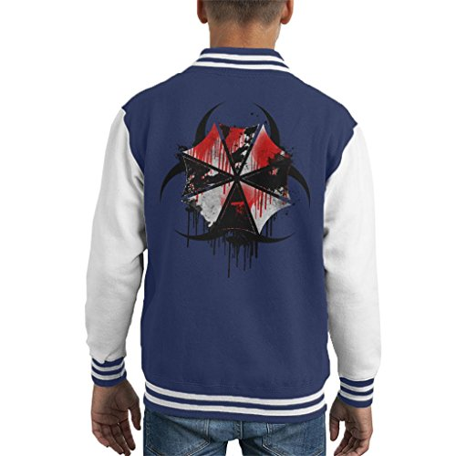 Resident Evil Umbrella Corp Blood Splatter Kid's Varsity Jacket