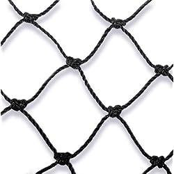 MD 10mx10m(100qm) Taubenabwehrnetz Vogelabwehrnetz Katzenabwehrnetz Teichnetz Profiqualität aus Polyäthylen schwarz