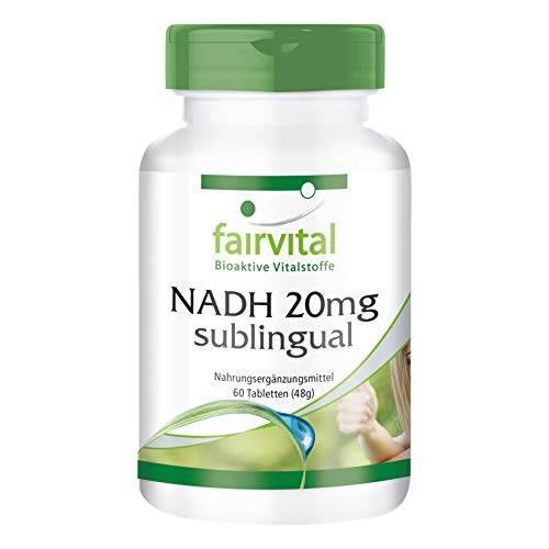 NADH 20mg sublingual - VEGAN - 60 Tabletten zum Lutschen -