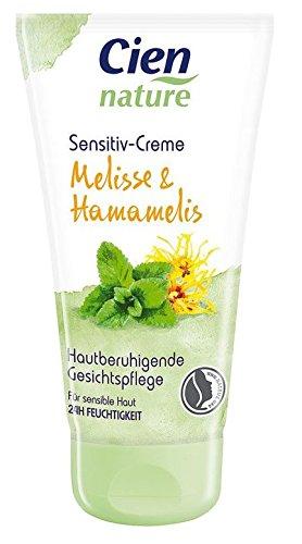 Cien nature sensitiv-Creme Melisse & Hamamelis Gesichtspflegecreme Inhalt: 50ml Hautberuhigende Gesichtspflegecreme für 24h Feuchtigkeit...