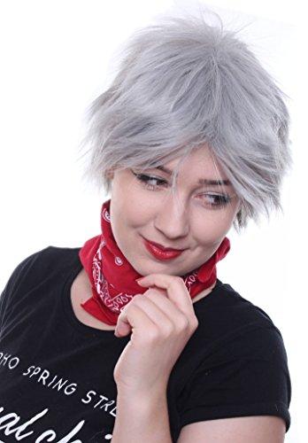ALIA APH Gilbert Preuße silber Grau Party Vampir Perücke (Sport Figuren Halloween Kostüme)
