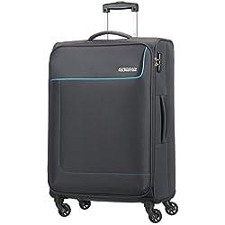 American Tourister- Funshine spinner 4 ruedas 55/20 equipaje de mano, gris (sparkling graphite), M (66cm-63,5L)