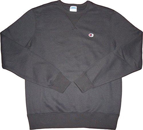 champion-m-auth-fleece-mel-sudadera-de-cuello-redondo-color-negro