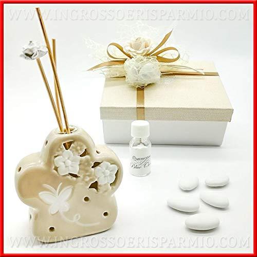 Venta AL por mayor y ahorro de ambientador para habitaciones con forma de Flor de Porcelana y pardo, Regalos útiles navideños para la casa ofertas en línea, con Caja de regalo incluida