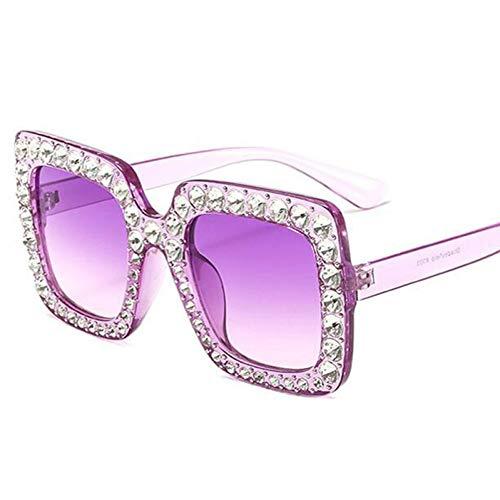 YOGER Sonnenbrillen Glänzende Diamant Sonnenbrille Frauen Design Flash Square Shades Weibliche Spiegel Sonnenbrille