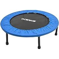 Ocean5 Easy Jump 100 Fitness-Trampolin mit Randabdeckung, Minitrampolin 82-90 cm Ø, Gesundheitstrampolin bis 120 kg belastbar