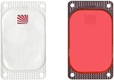 Cyalume - Paquete de 250 balizas luminosas adhesivas rectangulares VisiPad, 10 horas, color rojo