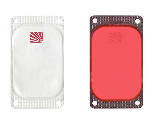 VisiPad Cyalume selbstklebender Leuchtmarkierer Rot (250-er Pack) - kann zur Erhöhung der Sichtbarkeit von Oberflächen verwendet werden - optimiert Rettungseinsätze - Leuchtdauer 10 Stunden