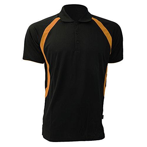 Gamegear Cooltex Riviera Herren Polo-Shirt, Kurzarm Weiß/Marineblau