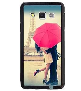 Printvisa Love Couple Under An Umbrella Back Case Cover for Samsung Galaxy A7::Samsung Galaxy A7 A700F