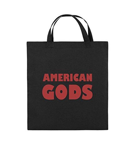 2ab446a2ba0a2 Comedy Bags - AMERICAN GODS - LOGO - Jutebeutel - kurze Henkel - 38x42cm -  Farbe