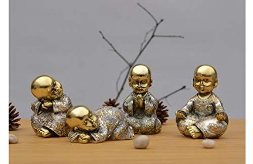 Petite Statue De Moine, Petit Moine Céramique Mini Moine Statue De Bouddha Décoration Décoration 4Pcs,B