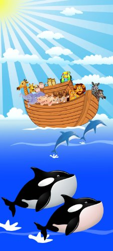 Türtapete Noahs Arche TT386 90x200cm Tapete Bibel Kinder Schiff