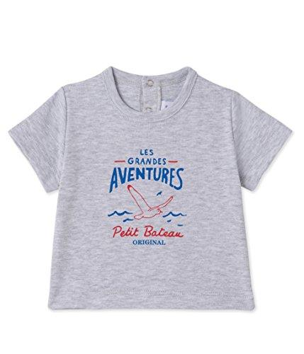 Petit Bateau Baby-Jungen T-Shirts MC_22968, Grau (Poussiere 58), 62 (Herstellergröße: 3m/60cm)
