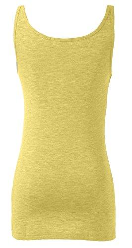WENSENY Donna BXD Casual Canotta Senza Maniche T Shirt Giallo