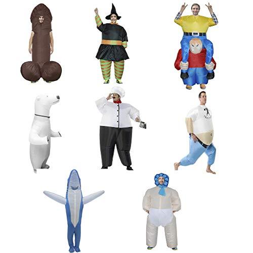 BWNWPH Ausländische aufblasbare Kleidungs-lustige Einzelteile Halloween-Partei-Erziehungs-Kleidung Weihnachtslustige Partei-Halloween-Haifisch, großer weißer Bär, Popeye, etc. Aufblasbare Kleidung (Crazy Bären Kostüm)