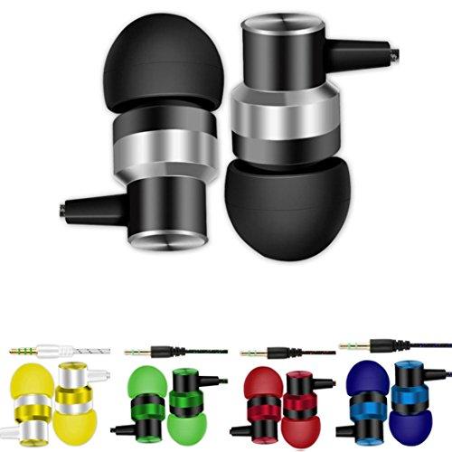 Omiky® Universal 3,5 mm In-Ear-Stereo-Ohrhörer Kopfhörer mit Mikrofon für Handy