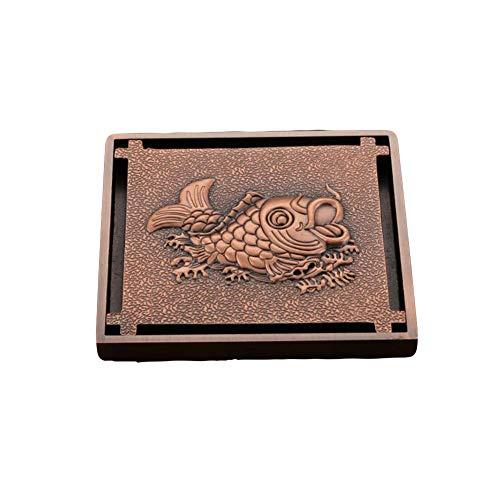 Kitrack Bodenablauf Quadrat 100 * 100mm Rot Bronze Für Badezimmer Wet Room DN50