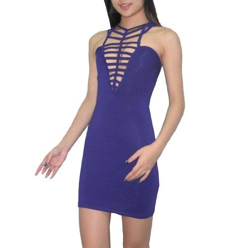 Damen Sexy Me Thai Exotic Sexy Low-Cut Tank Dress Lila