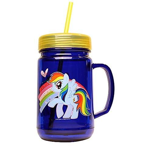 Silver Buffalo MLP4809 My Little Pony Rainbow Dash Mason Jar, 24 oz, Blue by My Little Pony