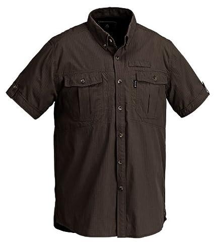 Pinewood Men's Botswana Short Sleeve Shirt - Earth Brown, Medium