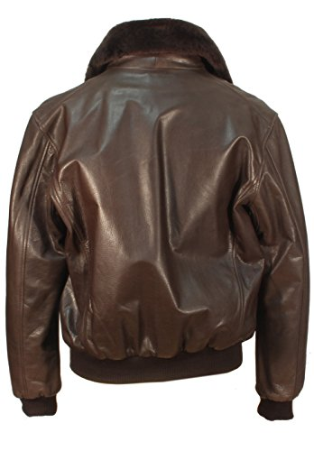 Costale - dunkelbraune Lederjacke aus Rindleder mit Toskana Kragen Aviator Pilotenjacke Bikerjacke kurze Leder Jacke Dunkelbraun
