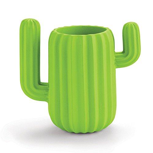 BIEE, Schreibtischbutler Tisch Organizer Set, Stiftehalter, Notizblockhalter, Utensilienhalter, Stifteköcher Multifunktionale Schreibtisch Organisator - Green Cactus