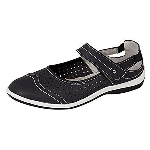 Boulevard - Chaussures été perforées - Femme Noir