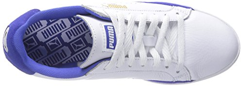 Puma match Lo Basic Sport Sportstyle Sneaker White-Dazzling Blue