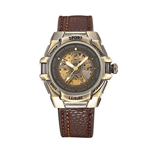 HWCOO Orologi meccanici Shenhua / 9665 orologio da uomo automatico da uomo meccanico in bronzo con carica automatica (Color : 1)
