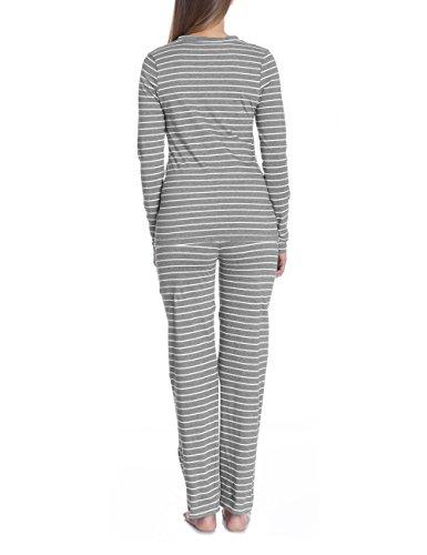 Bellybutton Damen Umstands Schlafanzugoberteil PHILINE - Schlafanzugshirt 1/1 Arm Grau (grey melange italy 8110)