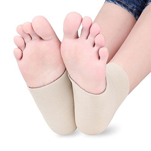 SOFIT 1 Paar Fersen Socken/Silikon-Gel SPA Bandagen Fersensporn Pads Feuchtigkeitsspendendes Kompressionssocken, Knöchel Stütze für Fußpflege Füße Sohlen Unterstützung für Trockene Geknackt Haut (Feuchtigkeitsspendende Fuß-spa)