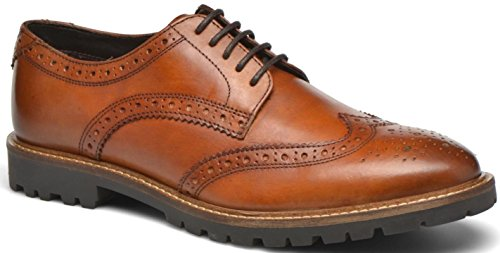 Base London Trench Tan Leather Mens Formal Brogue Casual Shoes-8
