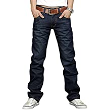 Newfacelook Men's Designer blau Jeans Denim Herren Hosen Hose F09