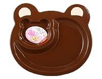 Plastic Cartoon Bear Dinner Plate For Children (Brown)