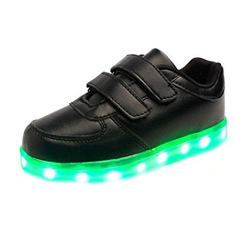 Unisex Flashing Handtuch Sportschuhe Kids Glow Led kleines Turnsc Leuchten Schwarz Luminous junglest® Wiederaufladbare present qSw4UW