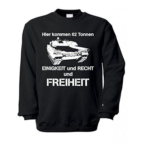 Copytec Bundeswehr BW Leopard Panzer Leo 2 Panzertruppe Humor Pulli Uniform Fun Spaß Deutschland Hymne Einigkeit Recht und Freiheit - Pullover #13704 (Army Uniform Force Us Air)