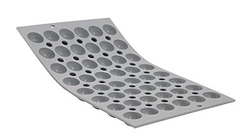 De Buyer 1866.01 Elastomoule Silicone Baking Tray - 48 Mini Hemispherical Moulds with Flat Bottom. 25 mm